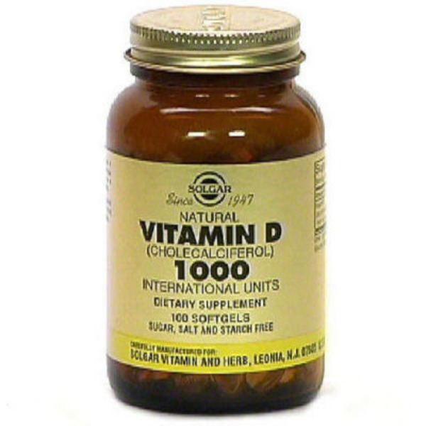 Solgar Vitamin D3 Cholecalciferol Softgels