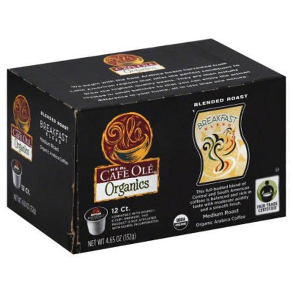 H-E-B Cafe Ole Blended Roast Breakfast K Cups