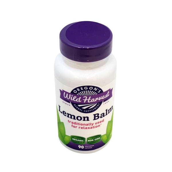 Oregon's Wild Harvest Vegetarian Lemon Balm Herbal Supplement Capsules