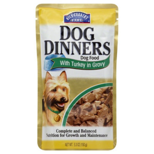 Hill Country Fare Dog Dinners Dog Food With Turkey In Gravy