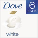 Dove White Beauty Bar 4 oz, 6 Bar