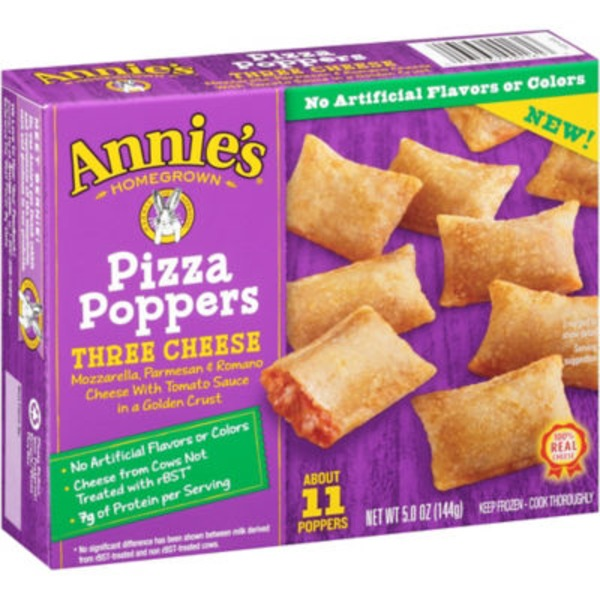 Annie's Homegrown Three Cheese Pizza Poppers Frozen Snacks