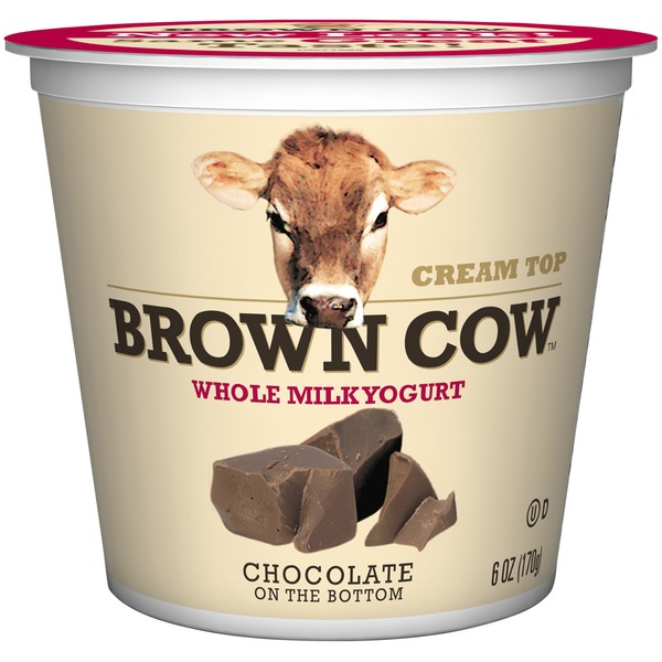 Brown Cow Cream Top Chocolate on the Bottom Yogurt