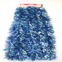 15' Holographic Blue Wiggle Christmas Garland