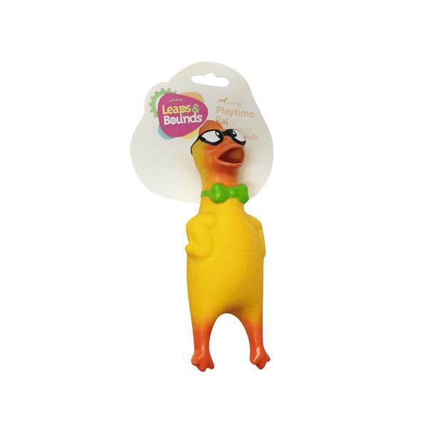 Leaps & Bounds Nerdy Chicken Latex Dog Toy Small