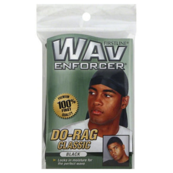 Wav Enforcer Do-Rag Classic, Black