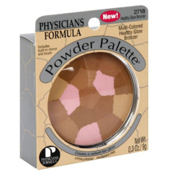 Powder Palette® 2718 Healthy Glow Bronzer Multi-Colored--2718C Eclat Bronze Bronzeur Multicolore Bronzer--Bronzeur