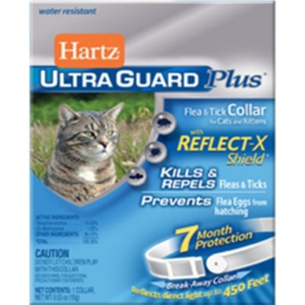 Hartz Ultra Guard Plus Flea & Tick Collar For Cats And Kittens With Reflect-X Shield
