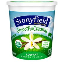 Stonyfield Organic Lowfat Smooth & Creamy French Vanilla Yogurt