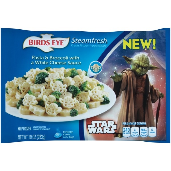 Steamfresh Star Wars Pasta & Broccoli with a White Cheese Sauce Frozen Entree