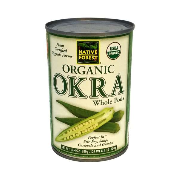 Native Forest Organic Whole Okra Pods