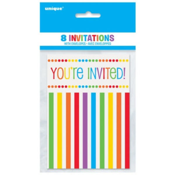 Unique Rainbow Birthday Invitations