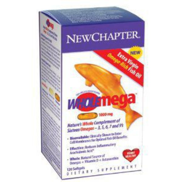 New Chapter Wholemega Whole Fish Oil 1000mg