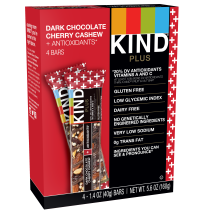 KIND Bars, Dark Chocolate Cherry Cashew + Antioxidants , 4 Bars, Gluten Free