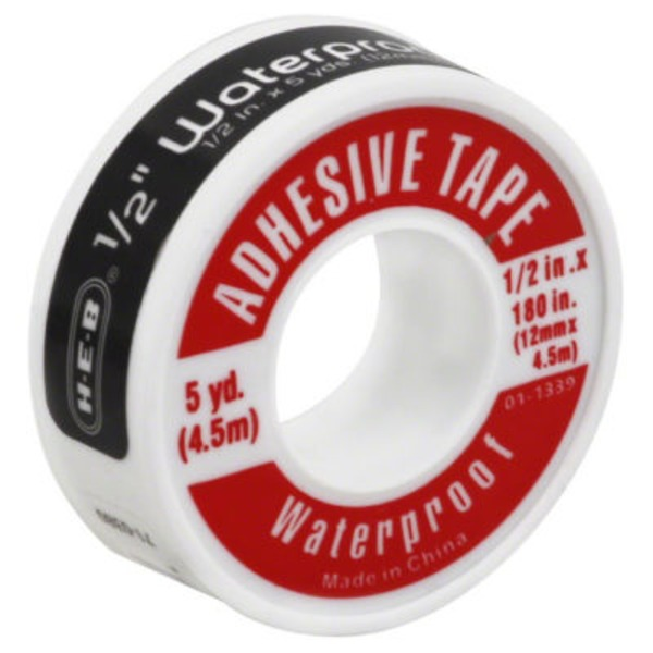 H-E-B 1/2 Inch Waterproof Adhesive Tape