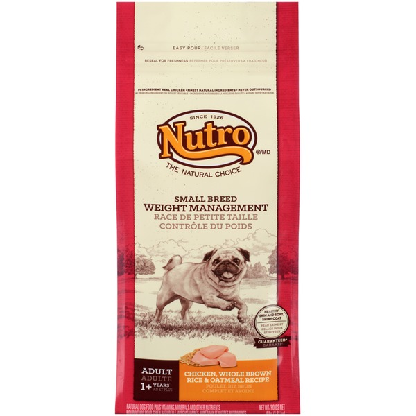 Nutro Small Breed Weight Management Adult Chicken Whole Brown Rice & Oatmeal Recipe Dog Food