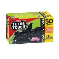 H-E-B Texas Tough 33 Gallon Flap Closure Trash Bags