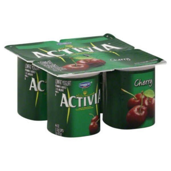 Activia Black Cherry Lowfat Probiotic Yogurt