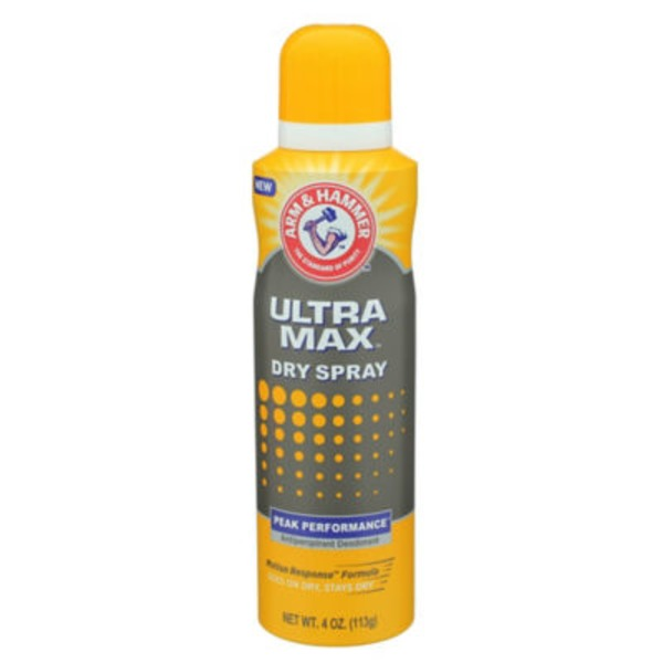 Arm & Hammer Ultra Max Dry Spray Antiperspirant Deodorant Peak Performance
