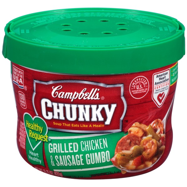 Campbell's Healthy Request Grilled Chicken & Sausage Gumbo Soup