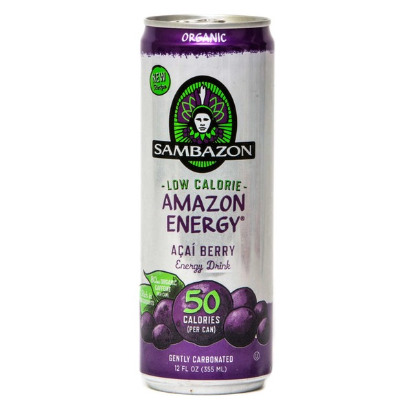 Sambazon Energy Drink, Organic, Low Calorie, Acai Berry