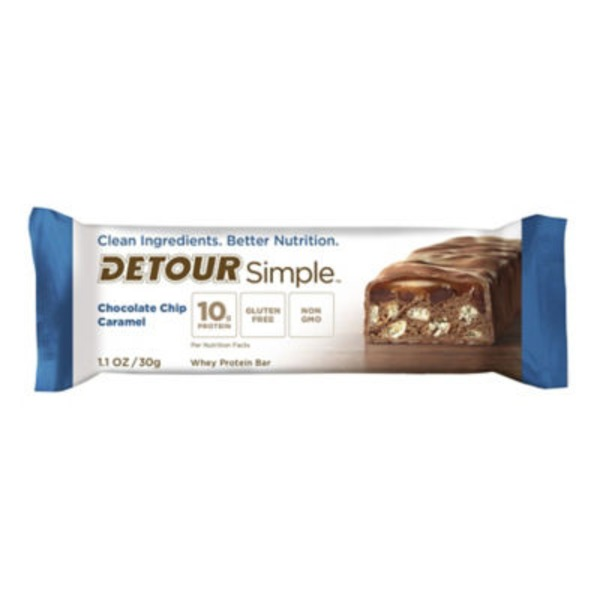 Detour Protein Bar, Whey, Chocolate Chip Caramel