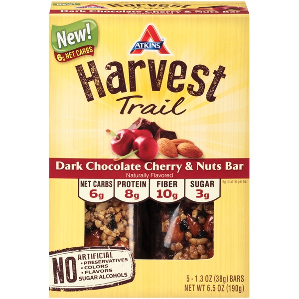 Atkins Harvest Trail Dark Chocolate Cherry & Nuts Snack Bars