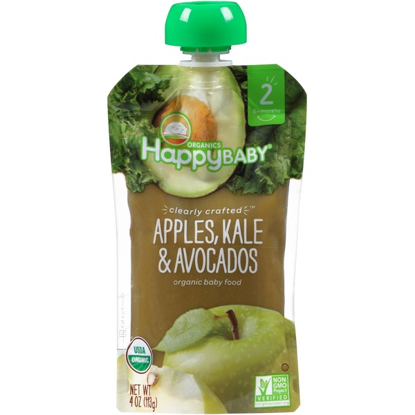 Happy Baby/Family Apples, Kale & Avocados Organic Baby Food