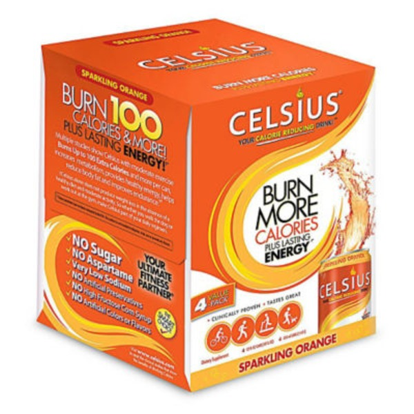 Celsius Sparkling Orange Calorie Reducing Drink