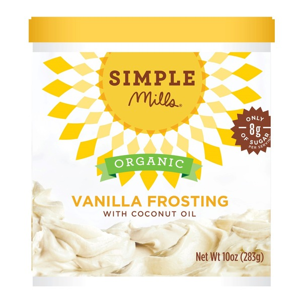 Simple Mills Frosting, Organic, Vanilla, with Coconut Oil