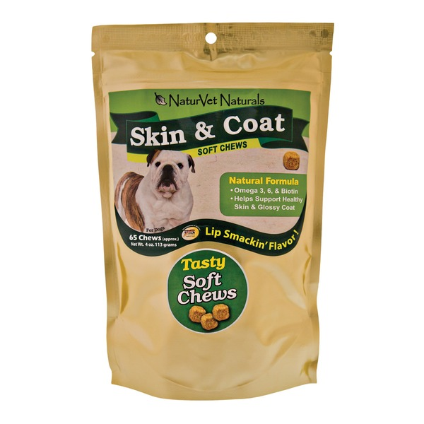 NaturVet Skin & Coat Soft Dog Chews
