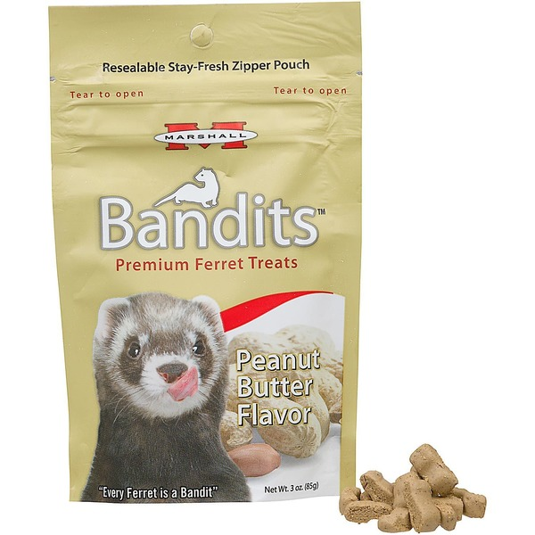 Marshall Pet Products Bandits Premium Peanut Butter Ferret Treats 3 Oz.