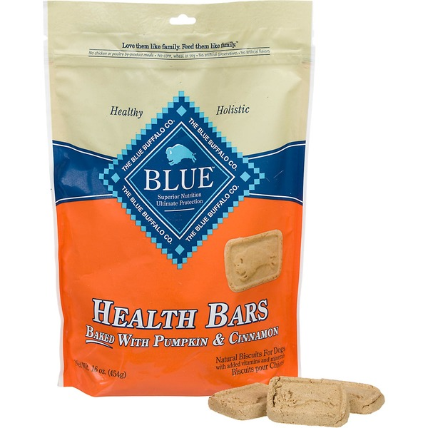 Blue Buffalo Dog Biscuits, Health Bars, Pumpkin & Cinnamon, Pouch