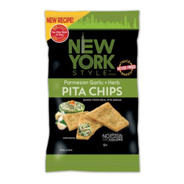 New York Style Parmesan Garlic + Herb Pita Chips