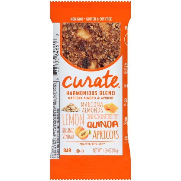 Curate Harmonious Blend Marcona Almond & Apricot Snack Bar