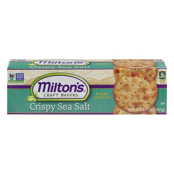Milton's Craft Bakers Baked Crackers Crispy Sea Salt