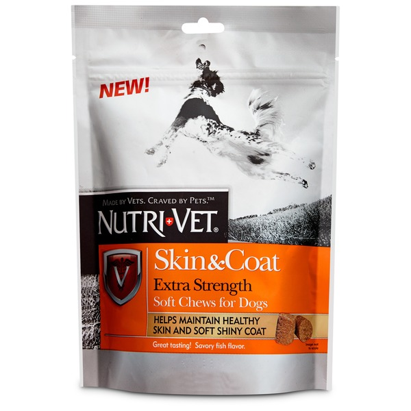 Nutri-Vet Skin & Coat Extra Strength Soft Chews For Dogs 45 Pack Fish