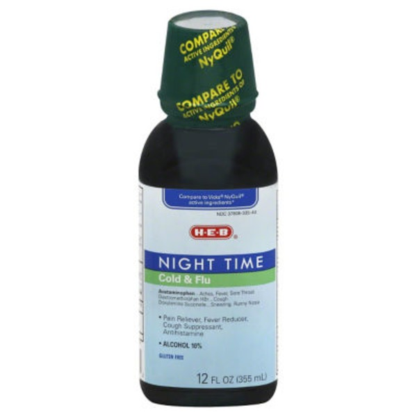 H-E-B Night Time Cold & Flu Syrup
