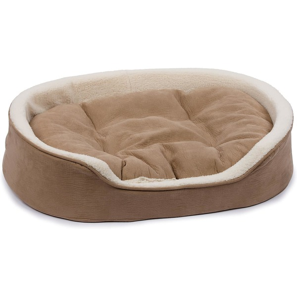 Petco Oval Tan and Cream Cuddler Dog Bed 43x29