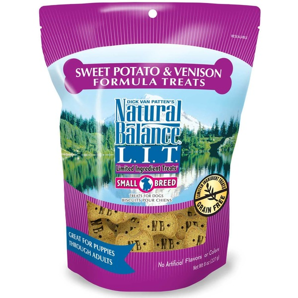 Natural Balance Small Breed Sweet Potato & Venison Formula Dog Limited Ingredient Treats