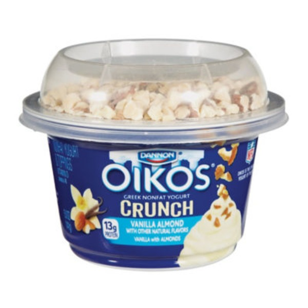 Oikos Crunch Greek Vanilla Almond with Toppings Nonfat Yogurt