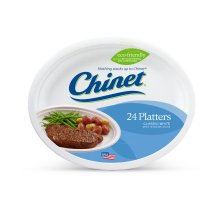 Chinet Classic White Large Platters - 24 Count