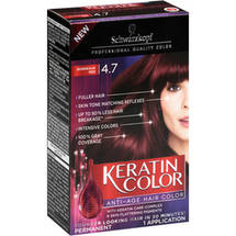 Schwarzkopf Keratin Color Anti-Age Hair Color 4.7 Bordeaux Red