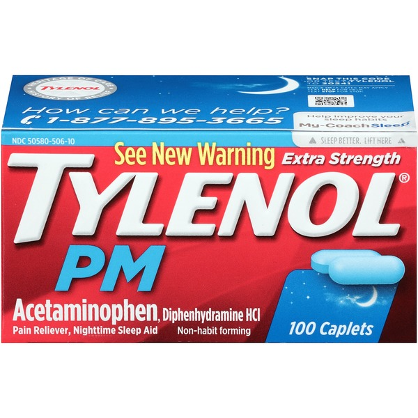 Tylenol® PM Pain Reliever, Nighttime Sleep Aid Extra Strength PM Extra Strength