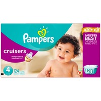 Pampers Premium Pampers Cruisers Diapers Size 4 124 count  Diapers
