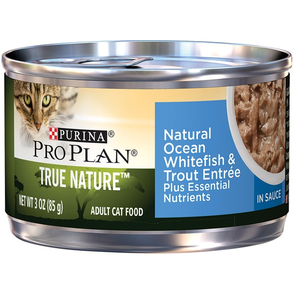 Pro Plan Cat Wet True Nature Adult Natural Ocean Whitefish & Trout Entree in Sauce Cat Food