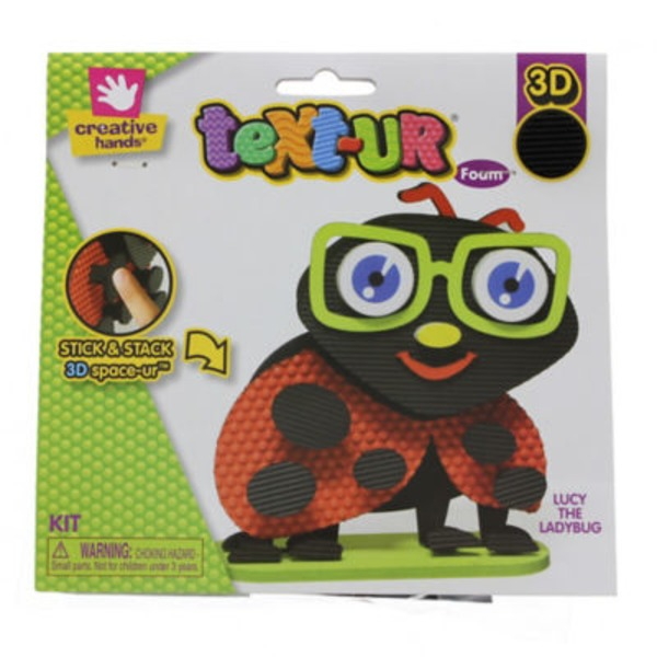 Creative Hands 3D Text-Ur Foam Lucy The Ladybug Kit