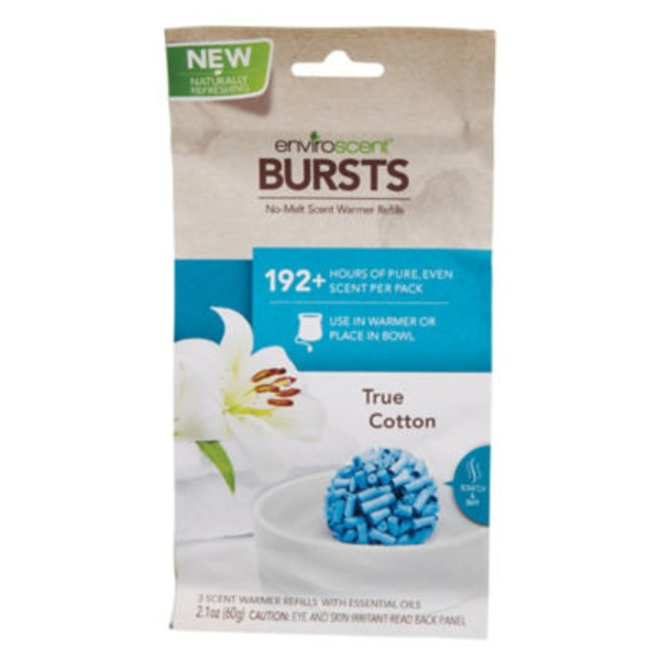Enviroscent True Cotton Bursts Scent Warmer Refill