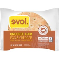 Evol Foods Uncured Ham-Egg & Cheddar Multi-Grain Flatbread Breakfast Sandwich