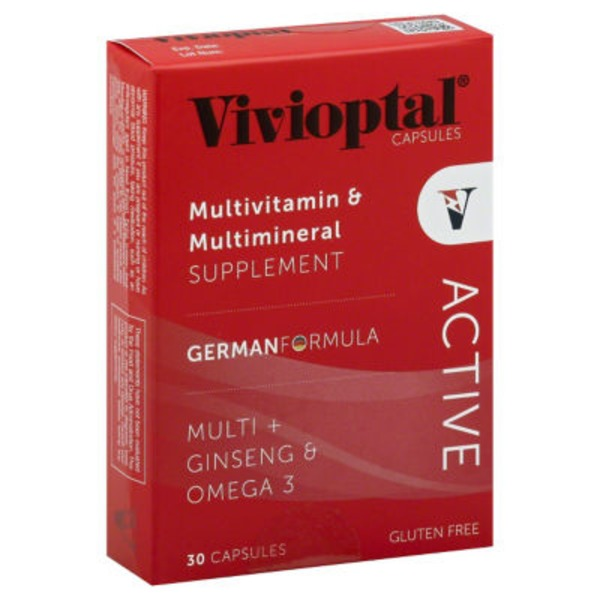 Vivioptal Multivitamin & Multimineral Supplement Active Caplets